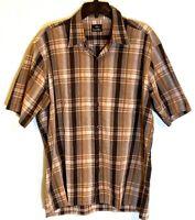 Countess Mara Men's Button Shirt Sz Large Made In Hong Kong Front Cigar Pocket