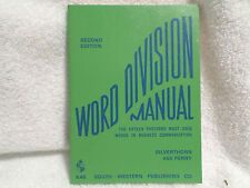SILVERTHORN & PERRY: WORD DIVISION MANUAL, 1970 SECOND EDITION PB