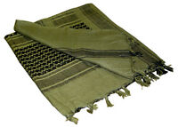 Condor 201 100% Cotton Shemagh Head Tactical Scarf Olive Drab OD Green/Black