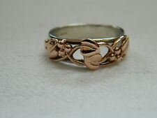 Clogau Sterling Silver & 9ct Rose Gold Tree of Life Ring size N RRP £310.00