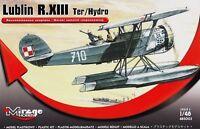 LUBLIN R XIII TER/HYDRO - WW II POLISH FLOAT PLANE #485003 1/48 MIRAGE (pzl)