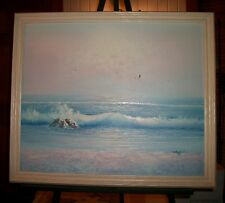 20 x 24 Oil Painting of Beach Landscape by Stafford