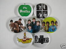 BEATLES 7 PINS BUTTONS BADGE LENNON MCCARTNEY beetle ww