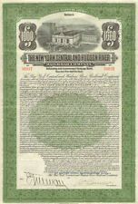 1913 New York Central Hudson River Railroad bond stock