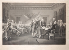 1832 J.Jazet Important LARGE AQUATINT Declaration of Independence America USA