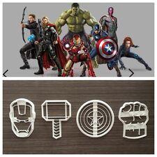 Avengers Super Eroi Marvel Cookie Cutter Formina Per Pdz 8cm