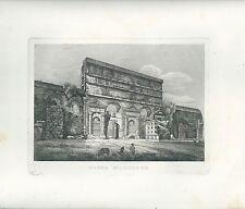 1848 ROMA PORTA MAGGIORE acquaforte su rame originale d'epoca