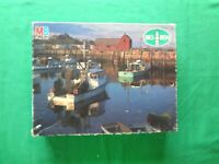 VINTAGE 1984 MB BIG BEN ROCKPORT, MASSACHUSETTS 1000 PIECE JIGSAW PUZZLE