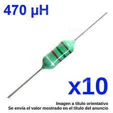 Axial Inductor,10/% Tolerance Epoxy Conform 2 x Inductancia axial 1//4 W  de 1uH