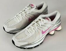 Nike Shox Running Shoes 3324749-161  Women's Size 8.5 White, Pink and Gray MINT