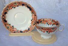 "Atlas ""Imari Style"" 1906-1910 Gold/Orange/Black Tea Cup & Saucer # 7197   (56)"