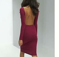 NWT Premium ASOS Ballet Back Fitted MIDI Pencil DRESS Raspberry Charcoal
