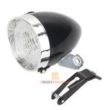 Retro Bicycle Bike 3 LED Front Light Headlight Vintage Flashlight Lamp Black AAA