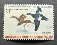WTDstamps - #RW36 1969 - US Federal Duck Stamp - Mint OG NH