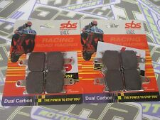 SBS Dual Carbon Racing Track Front Brake Pads for Kawasaki ZX6R 2009-2012 NEW