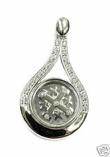 Unique Rotating Jerusalem Cross Pendant Silver 925 Zircon Crystals Holy Land