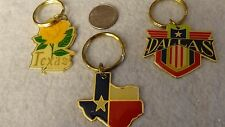 """""""Texas"""" Themed Key Chains Pack of 3 Vintage (80's) Unused ! Old Inventory"""