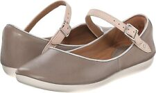 Clarks Ladies Flat Shoes FEATURE FILM Sage Leather UK 6 / 39.5