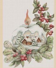 Christmas  Snow Globe Counted Cross Stitch Chart Scene No. 4-386
