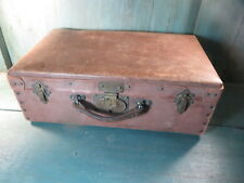 Petite valise ancienne valisette vieux bagage laiton voyage avion vintage