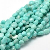 Amazonite Light Nugget Gemstone 7 - 13mm 1 Strand Approx 40 Beads Natural