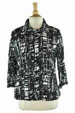 Chico's Women Coats & Jackets Blazers 2 Black Polyester