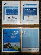 Construction Engineering for Civil PE License Breadth (AM) and Depth (PM)...