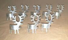 Lot of 8 Silverplated Christmas/Reindeer Napkin Ring Holders EUC