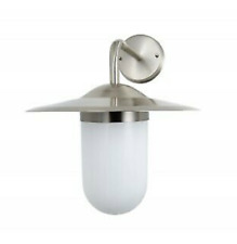 Luna Outdoor Lighting IP44 Station Wall Lantern Light - Stainless Steel