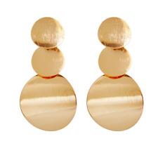 Metal circle earrings Fashion geometric multi-layer small round pendant Ear Stud