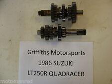 86 85? Suzuki LT250R 250 QUADRACER QUAD RACER TRANNY TRANSMISSION GEARS SHAFTS