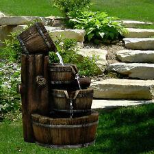 Barrel Indoor/ Outdoor LED Water Fountain Garden Feature Statue with Lights