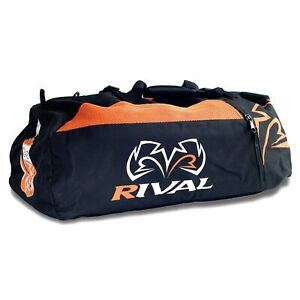 Rival RGB50 Gym Bag Boxing Holdall Backpack Duffel Gear Training Black Orange
