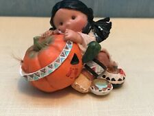 """Friends Of A Feather """"Smile Carver"""" Enesco 1995 Fall Native American figurine"""