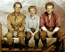 """LEAD ACTORS FROM SHANE 1953 LOT OF FIVE 8x10"""" HAND COLOR TINTED PHOTOGRAPHS"""