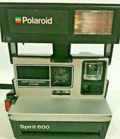 Vintage Polaroid Camera Brand Spirit 600 Land Rainbow Instant Film USA Flash