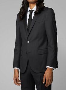 Hugo Boss Men's 'Hayes_cyl' Regular Fit Black Wool Blend Sport Coat Blazer 38R
