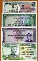 SET Mozambique, 50;100;500;1000 escudos, ND (1976), P-116-117-118-119, UNC