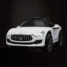 White Maserati License 12V Rechargeable kids Ride On Car With MP3 / Remote