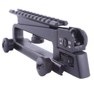 Metal Black Detachable Carry Handle With Rear Sight Combo Mount Hunting Part