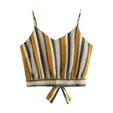 Fashion Womens Summer Tanks Tops Vest Blouse Casual Crop Cami Camisole Short Top