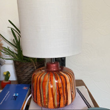 Blue Hand Painted Table Lamp Home Decor Housewarming Gift