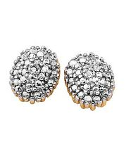 DIAMOND ACCENT CLUSTER EARRINGS BY GINAI JEWELLER`S BLING STUD`S NEW IN