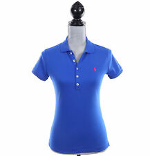 Ralph Lauren Sport Women Short Sleeve Slim Fit Solid Polo Shirt Pony - $0 Ship
