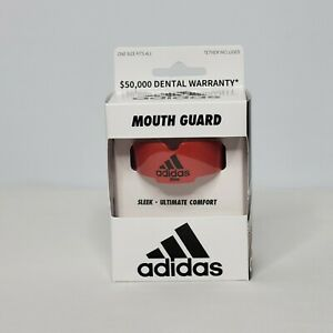 Adidas Mouth Guard Red One Size Fits All Tether Included New in Box