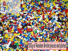 LEGO 500g 1/2 Kg misto Mattoni, Parti e pezzi-tutto pulito e autentico-BULK