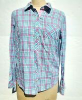 Vineyard Vines Womens Size 6 Plaid Button Down Long Sleeve Shirt Pink Blue