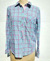 Vineyard Vines Womens Size 6 Plaid Button Down Shirt Pink Blue Long Sleeve