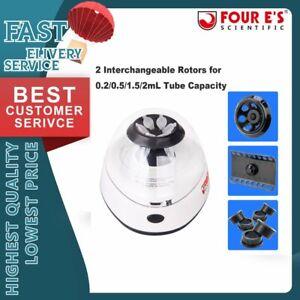 Electric Centrifuge Machine Lab Medical Practice 5600rpm w/ 6 x 2.0/1.5 ml Rotor