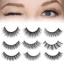 1 Pair Natural False Fake Eyelashes Thick Long 3D Mink Eye Lashes Extension
